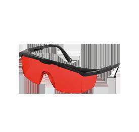 Lazerio spindulio akiniai raudoni